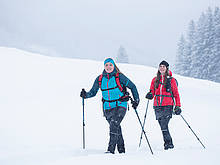 Snowshoe hike in Rauris Valley