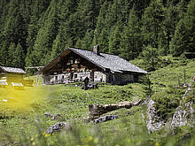 Alpine huts in Rauris Valley