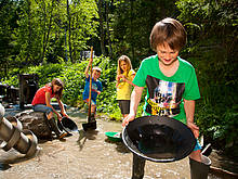 Panning for gold with your family