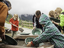 Gold-panning site at the Heimalm